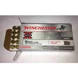 Winchester SuperX 9mm Luger FMJ 124 Grain (8g) 1.000 Stück