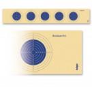 Krüger LG-Scheibenstreifen mit 5 Scheibenbildern Blau