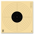 Luftpistolenscheibe (schwarz)